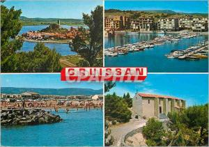 Moderne Karte Gruissan (Aude) Le Vieux Gruissan Le Nouveau Gruissan La Chapelle des Auzils Bateaux
