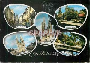 Moderne Karte Coutances Rue St Nicolas Le jardin public La cathedrale