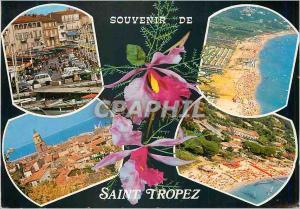 Moderne Karte Souvenir de Saint Tropez Cote d'Azur