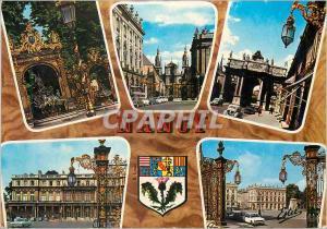 Moderne Karte Nancy (Meurthe et Moselle) Ville du XVIIIe Siecle Fontaine de Neptune La Cathedrale L'Arc de Tri