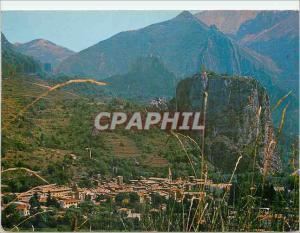 Moderne Karte Castellane Alpes de Haute Provence Altitude 724 metres Cite Historique Situee sur la Route Napol
