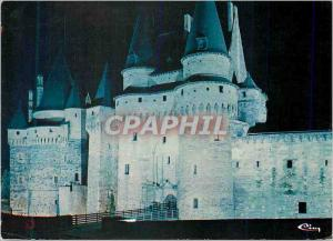 Moderne Karte Vitre (I et V) Le Chateau de nuit