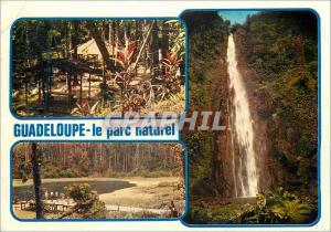 Moderne Karte Guadeloupe Entree du Parc Grand Etang Chutes du Carbet