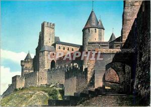 Moderne Karte La Cite de Carcassonne (Aude) La Porte d'Aude