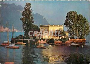 Moderne Karte Ile de Salagnon a Montreux