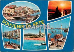 Moderne Karte Sete (Herault) Cote Languedocienne Bateaux