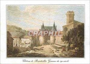 Moderne Karte Chateau de Bourdeilles (Dordogne) Gravure du 19e siecle