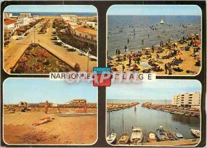 Moderne Karte Narbonne Plage (Aude)en Parcourant la Cote Mediterraneenne Bateaux