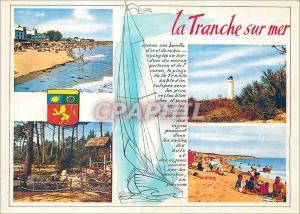 Moderne Karte La Tranche sur Mer la Plage le Phare les Floralies Plage de la Griere Cote de Lumiere Cote de Fl