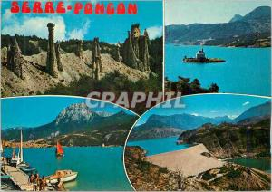 Moderne Karte Lac et Barrage de Serre Poncon (Hautes Alpes)