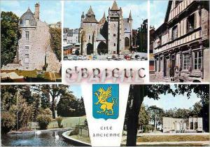 Moderne Karte Saint Brieuc Grande Cite Touristique la Bretagne Pittoresque Entre les Ravins du Gouet et du Gou