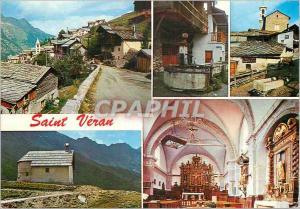 Moderne Karte Saint Veran (Htes Alpes) altitude 2040m la plus Haute Commune Habitee d'Europe