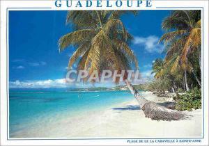 Moderne Karte Guadeloupe Antilles Fracaises Sainte Anne Plage de la Caravelle