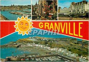 Moderne Karte Granville (Manche) le Port de Herel une Rue Fleurie de la Haute Ville le Centre de Thalassothera