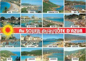Moderne Karte Souvenir de Vacances de Nice a Bormes les Mimosas Inoubliable Cote d'Azur