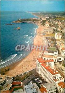 Moderne Karte Biarritz (Pyrenees Atlantiques) La Cote Basque Couleurs et Lumiere de France Tres Belle vue de l