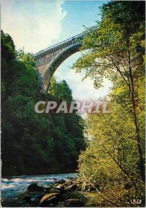 Moderne Karte Les Pyrenees Le Pont Napoleon sur le Gave a Luz (haut 85 m)