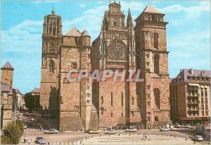 Moderne Karte La Cathedrale de Rodez L'Aveyron Pittoresque Construite des 1277 en gres Rouges