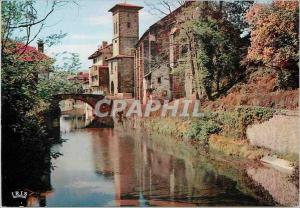 Moderne Karte St Jean Pied de Port  Reflets du Pays Basque La Nive Le Pont d'Espagne et l'Eglise