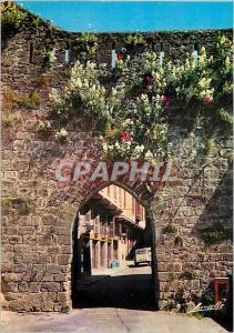 Moderne Karte St Jean Pied de Port (B P) Une Vieille Porte Medievale et la Rue de l'Eglise