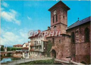 Moderne Karte St Jean Pied de Port (Pyr Atl) L'Eglise et la Porte Notre Dame