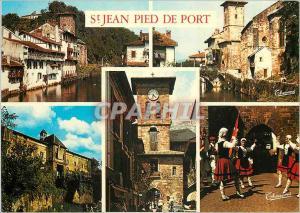 Moderne Karte St Jean Pied de Port Pays Basque