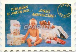 Moderne Karte Joyeux Anniversaire Tu Rajeunis de jour en jour Enfant B�b� Nounours Ours
