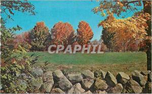 Moderne Karte Rock Wall and Fall Foliage A Perfect Combination of two New England Trademarks