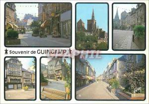 Moderne Karte Guingamp (Cotes du Nord) La Bretagne Couleurs et Lumiere de France Rue Notre Dame Basilique Notr