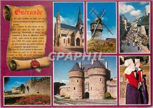 Moderne Karte Guerande Couleurs de Bretagne L'Eglise St Aubin Le Moulin du Diable et le Costume Regional)