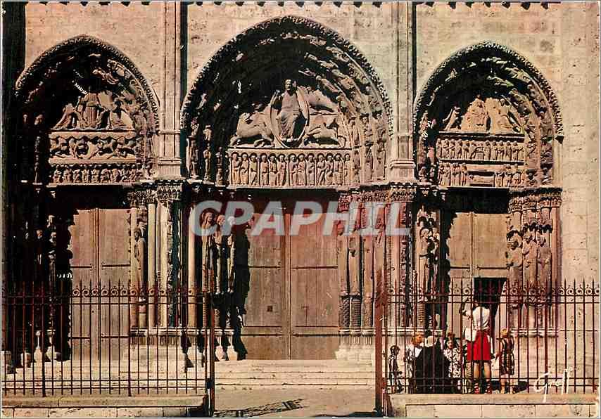 Moderne Karte Chartres (Eure et Loir) en Beauce la Cathedrale Portail Royal 0