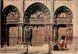Moderne Karte Chartres (Eure et Loir) en Beauce la Cathedrale Portail Royal