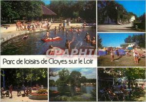 Moderne Karte Parc de Loisirs de Cloyes sur le Loir (E et L) Camping Caravaning