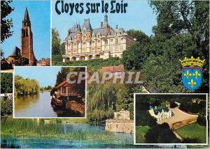 Moderne Karte Cloyes sur le Loir (E et L)