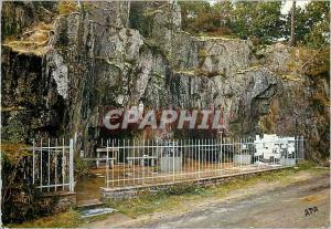 Moderne Karte Callac en Plumelec Grotte de Notre Dame de Lourdes au Pied du Calvaire
