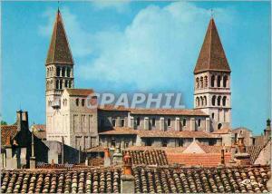 Moderne Karte Tournus (S et L) Eglise St Philibert (Xe XIe S) Vue d'ensemble sur les Clochers et la Nef
