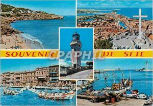 Moderne Karte Sete (Herault) Cote Languedocienne Bateaux de peche