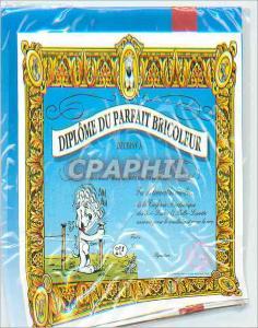 Moderne Karte Diplome du Parfait Bicoleur Avec nos Sinceres Felicitations Gai Luron