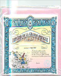Moderne Karte Diplome de la Grande Bringue Diplome Officiel Gai Luron
