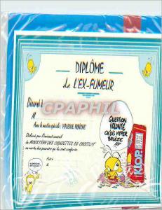Moderne Karte Diplome de l'Ex Fumeur Avec Nos Sinceres Felicitations Gai Luron