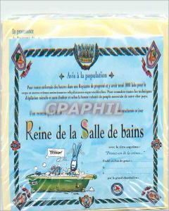 Moderne Karte Reine de la Salle de Bains A tout Seigneur Tout Honneur