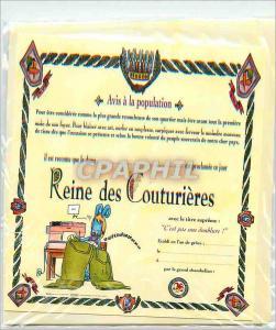 Moderne Karte Reine des Couturieres Avis a la Population A tout Seigneur Tout Honneur