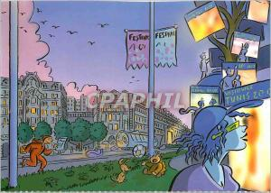 Moderne Karte Les annees 2010 Vuce d'Article Carrefour des 4 Continents Rue de la Republique Tramway