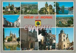 Moderne Karte Paray le Monial (Saone et Loire) Couleurs et Lumiere de France