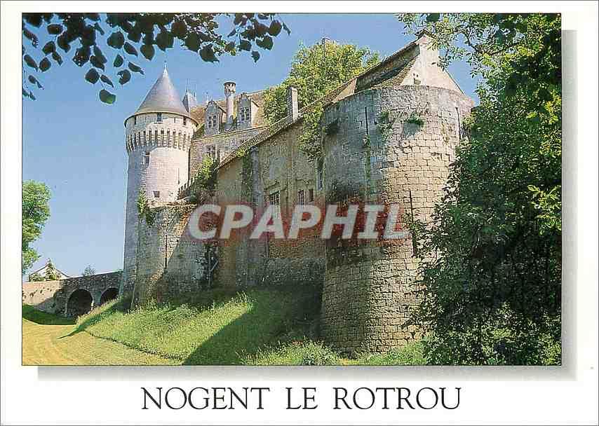 Moderne Karte Nogent le Rotrou (Eure et Loir) le Chateau Saint Jean 0