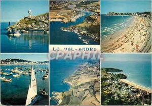 Moderne Karte Le Val Andre la Bretagne en Couleurs le Port de Dahouret la Grande Plage du Val Andre et son Por