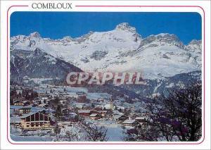 Moderne Karte Combloux (Haute Savoie) la Station et la Pointe Percee