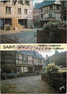 Moderne Karte Saint Brieuc (Cotes du Nord) la Bretagne Couleurs et Lumiere de France