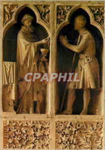 Moderne Karte Cathedrale de Reims (XIIIe s) Revers du Grand Portail la Communion du Cnevalier