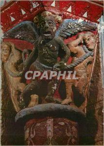 Moderne Karte Issoire (Puy de Dome) Eglise St Austremoine Chapiteau du Transept Nord le Demon